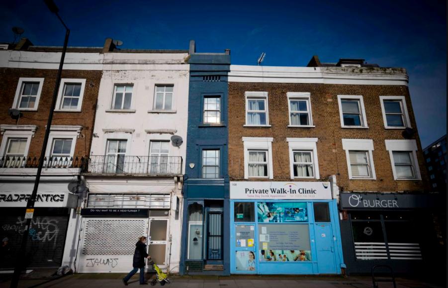 La maison la plus étroite de Londres est en vente: Cette maison unique d'1.7m de large vaut un million d'euros